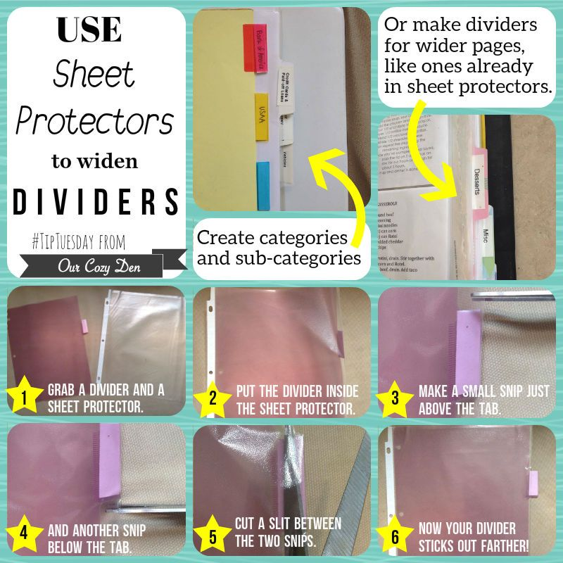 Widen Dividers: Tip Tuesday @ Our Cozy Den