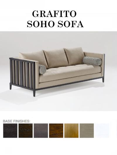 The Grafito Soho Sofa From Adriana Hoyos Is Available In