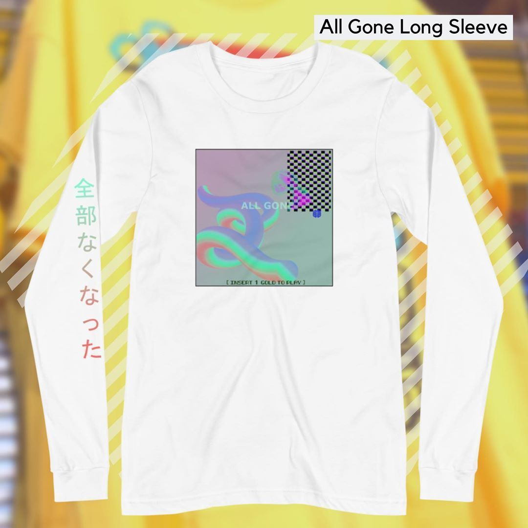 vaporwave design ALL GONE LONG SLEEVE Sign Up For 10 OFF  WORLDWIDE SHIPPING MADE IN THE USA