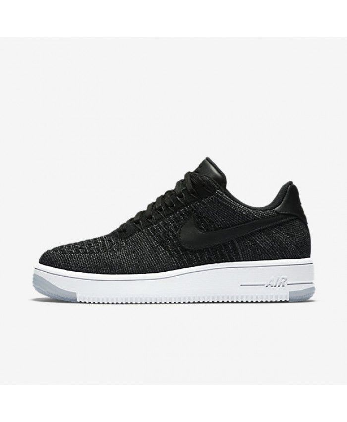 Nike Air Force 1 Flyknit Low Black White Womens Shoes   Nike Air ... a898e4bc3101