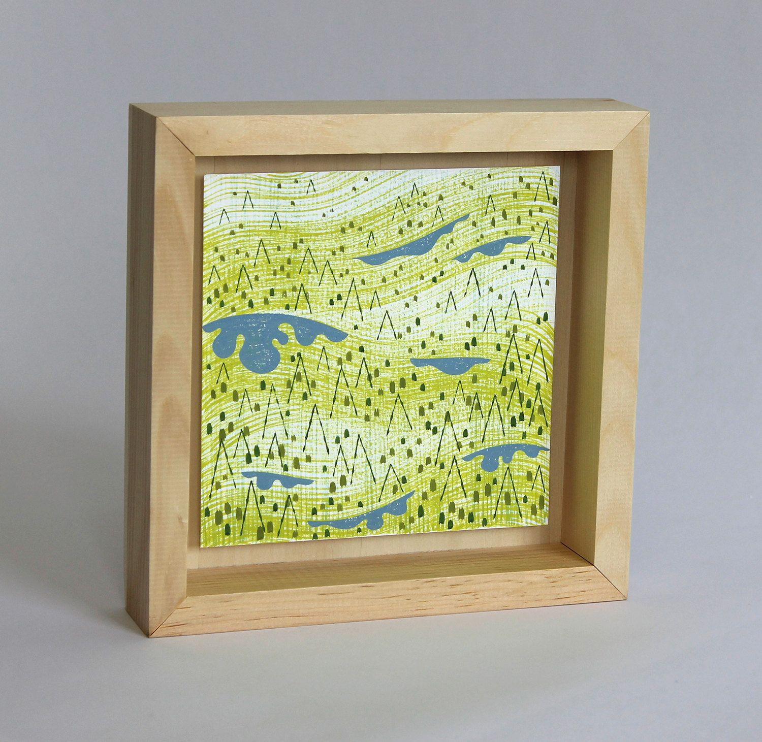 "Ridge, framed painting, 8""x8"" by alidouglass on Etsy"