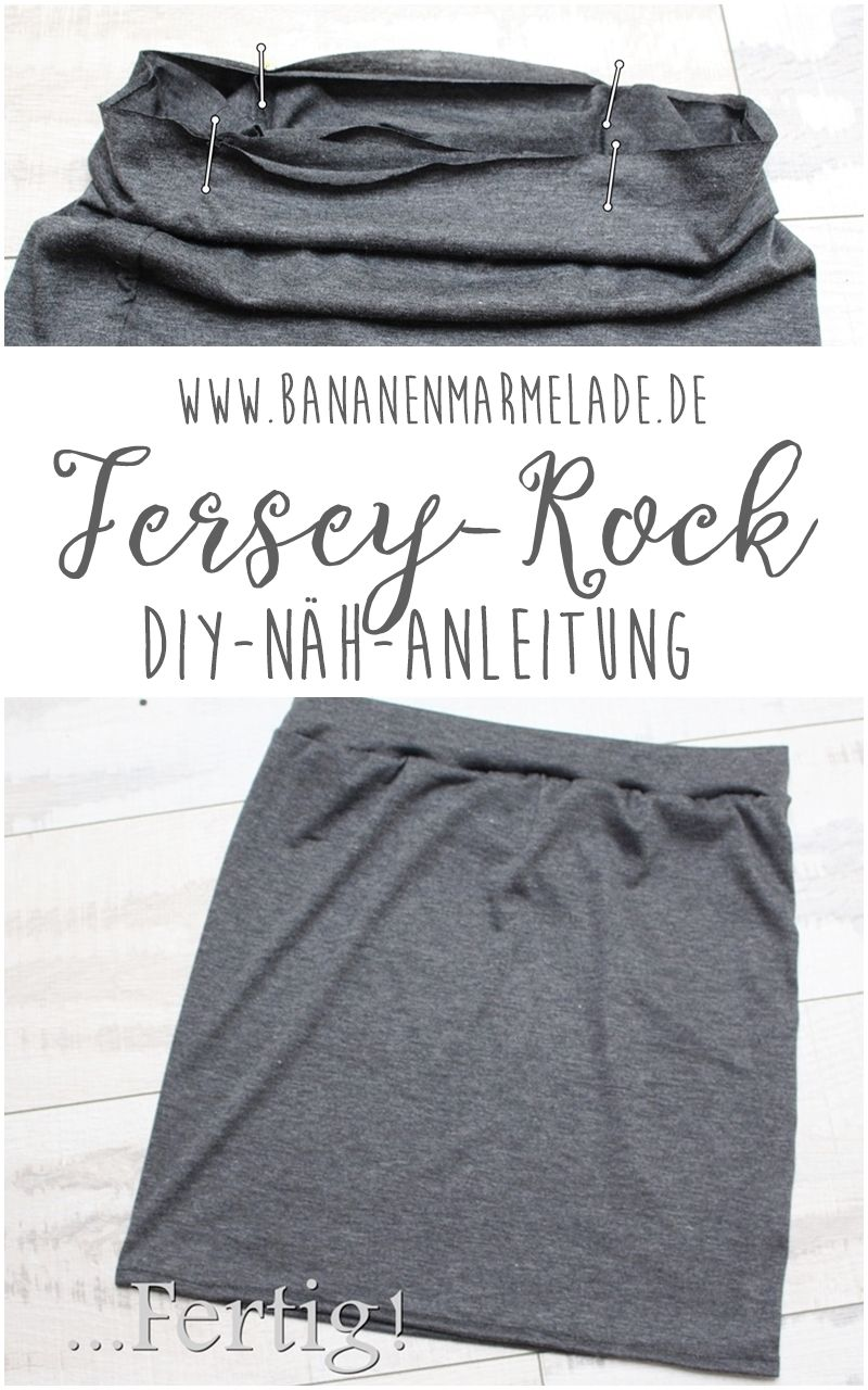 Sewing Steps On Sunday} Einfacher Jersey-Rock | DIY | Pinterest ...
