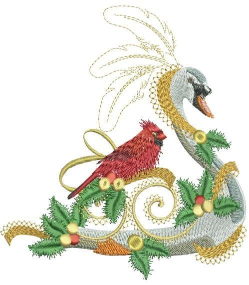 "Continuing a tradition started in 2008, ""Twelve Days of Christmas 2013"" are originally drawn and digitized to give the embroidery enthusiast a beautiful piece to hand down for future generations.. Col"