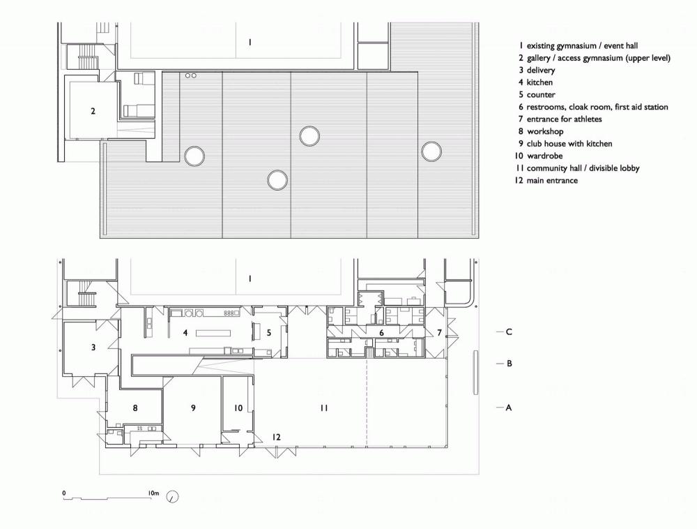 Front Building of Chliriethalle / Frei + Saarinen Architekten