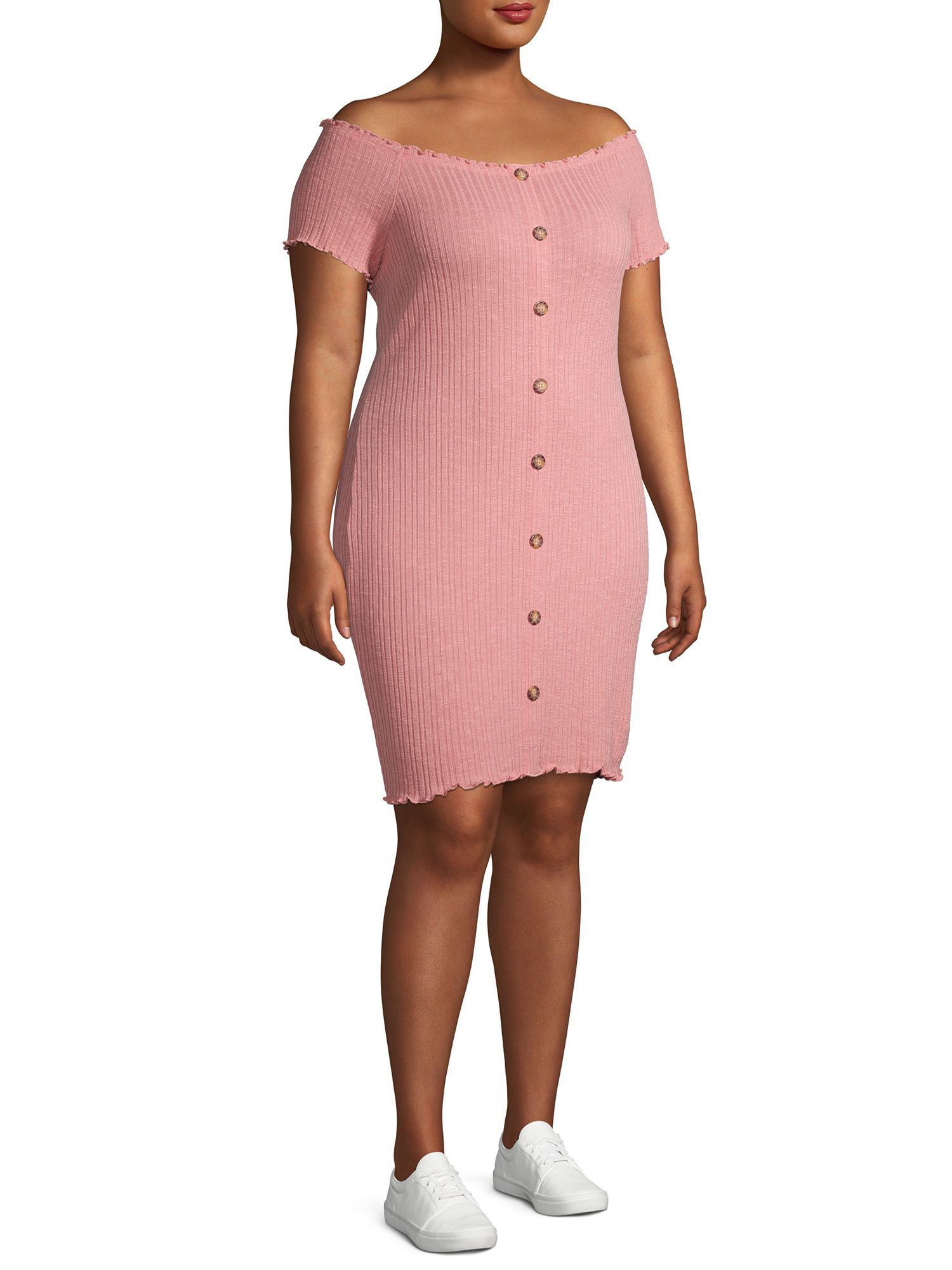 No Boundaries No Boundaries Juniors Plus Size Ribbed Off Shoulder Button Front Midi Dress Walmart Com Junior Plus Size Dresses Ribbed Dresses [ 2000 x 1500 Pixel ]