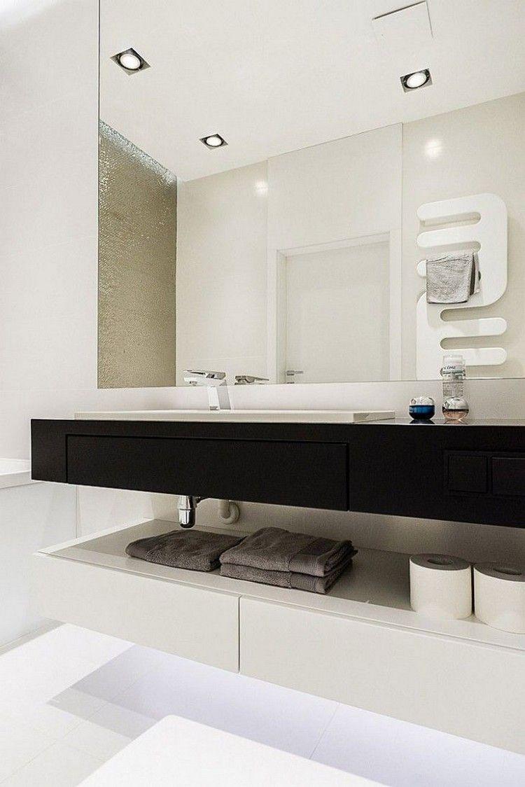 badezimmer-deckenleuchte-led-einbaustrahler-waschtisch-schwarz-weiss ...