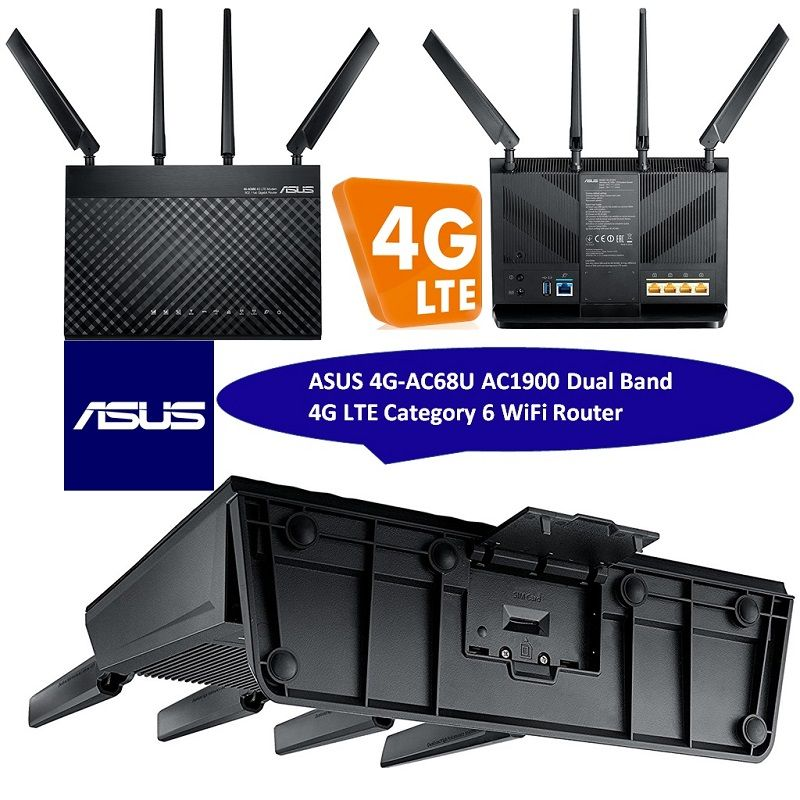 Asus 4g Ac68u Dual Band Ac1900 Wifi Router 4g Lte Category 6