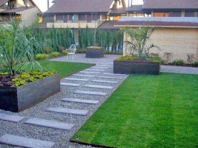 Dise os de jardines para casas de campo entrada - Jardines en casas de campo ...