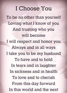Romantic Wedding Vows Examples For Her And Him