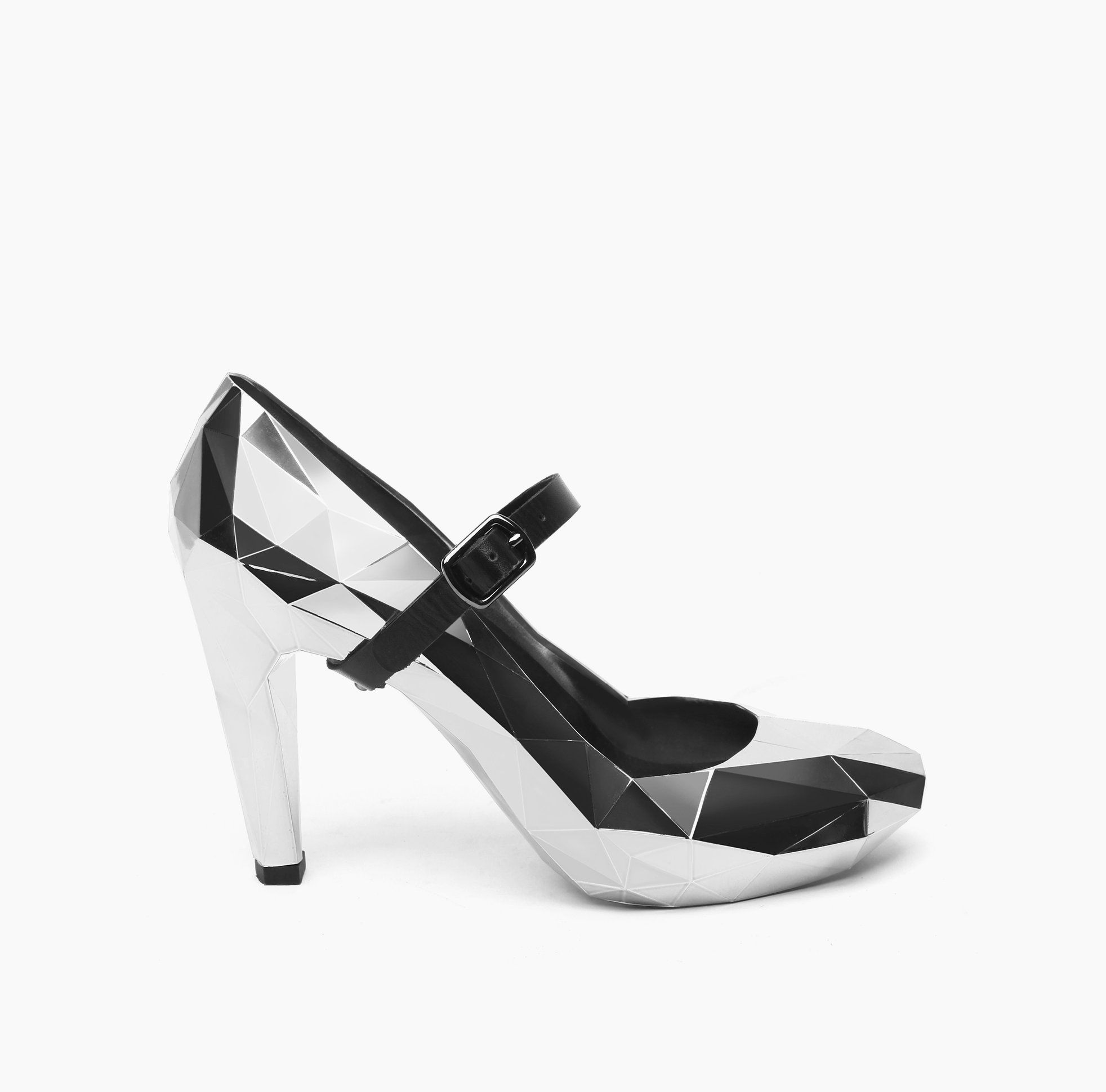Shoes UNITED NUDE - Lo Res Pump 1002914121 Steel Chrome