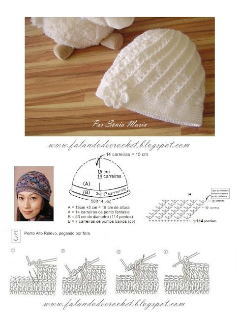 Gorro Divino (Divine Hat) - Croche - Crochet - Croché | Gorros y ...