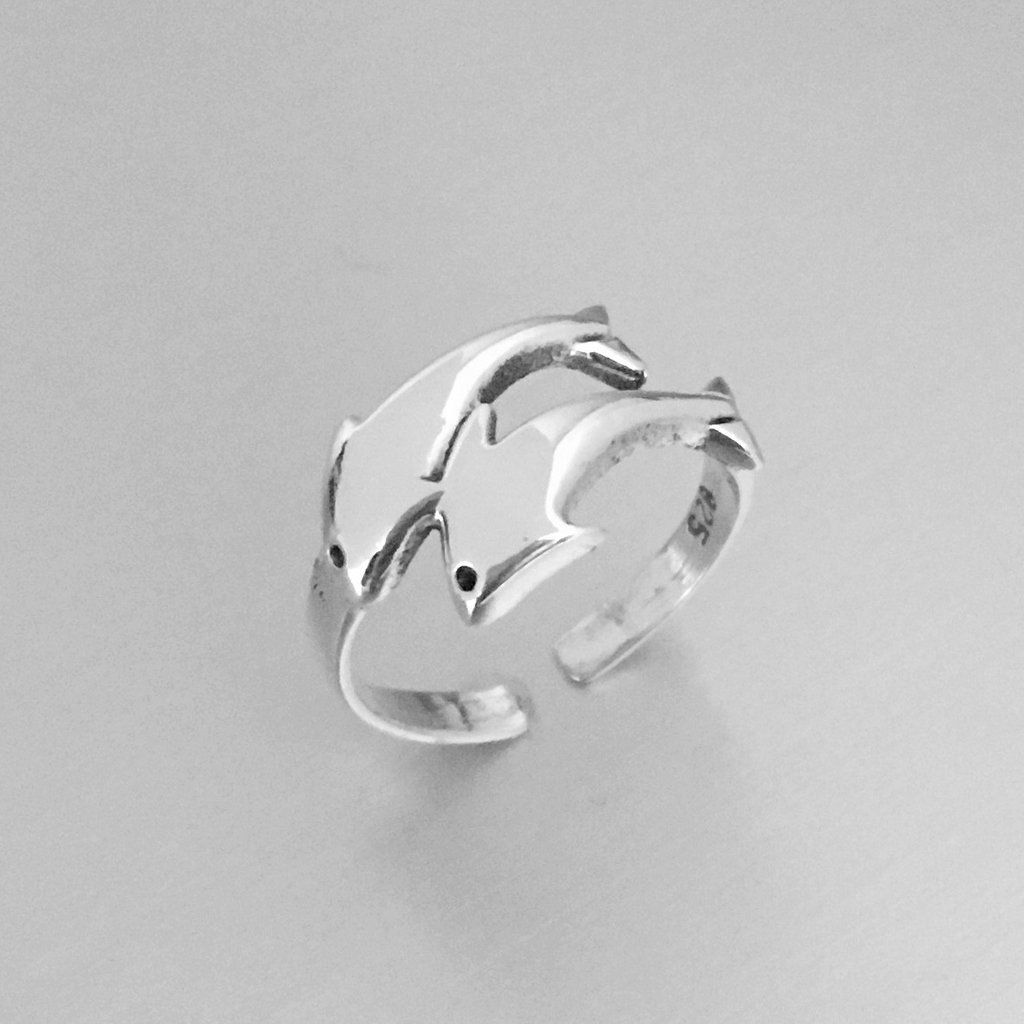Dolphins Stud Earrings Genuine Sterling Silver 925 Jewelry Product Height 9 mm