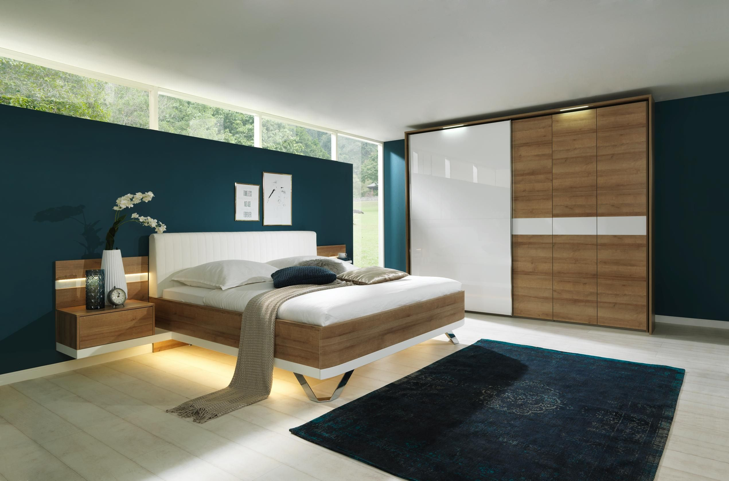 modernes schlafzimmer von dieter knoll in eichefarben und wei schlafzimmer in 2019. Black Bedroom Furniture Sets. Home Design Ideas