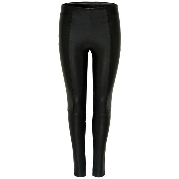 Leather look leggings polyvore