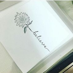 "Diana Moreno on Instagram: ""My next tat i think soo :D #favoriteflower #sunflower #tattoo #believe"""