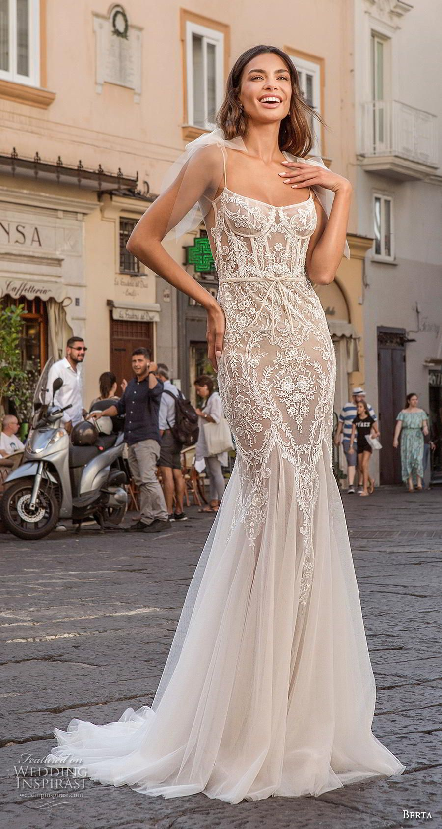 Berta Privee 2020 Wedding Dresses Amalfi Bridal Collection No 3 Wedding Inspirasi Berta Wedding Dress Couture Bridal Gowns Backless Mermaid Wedding Dresses [ 1688 x 900 Pixel ]
