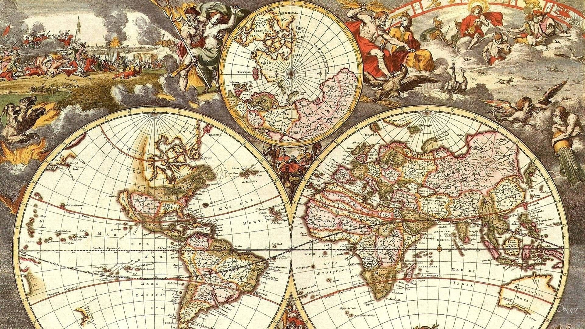 Res 1920x1080 World Map Old Vector Copy World Map