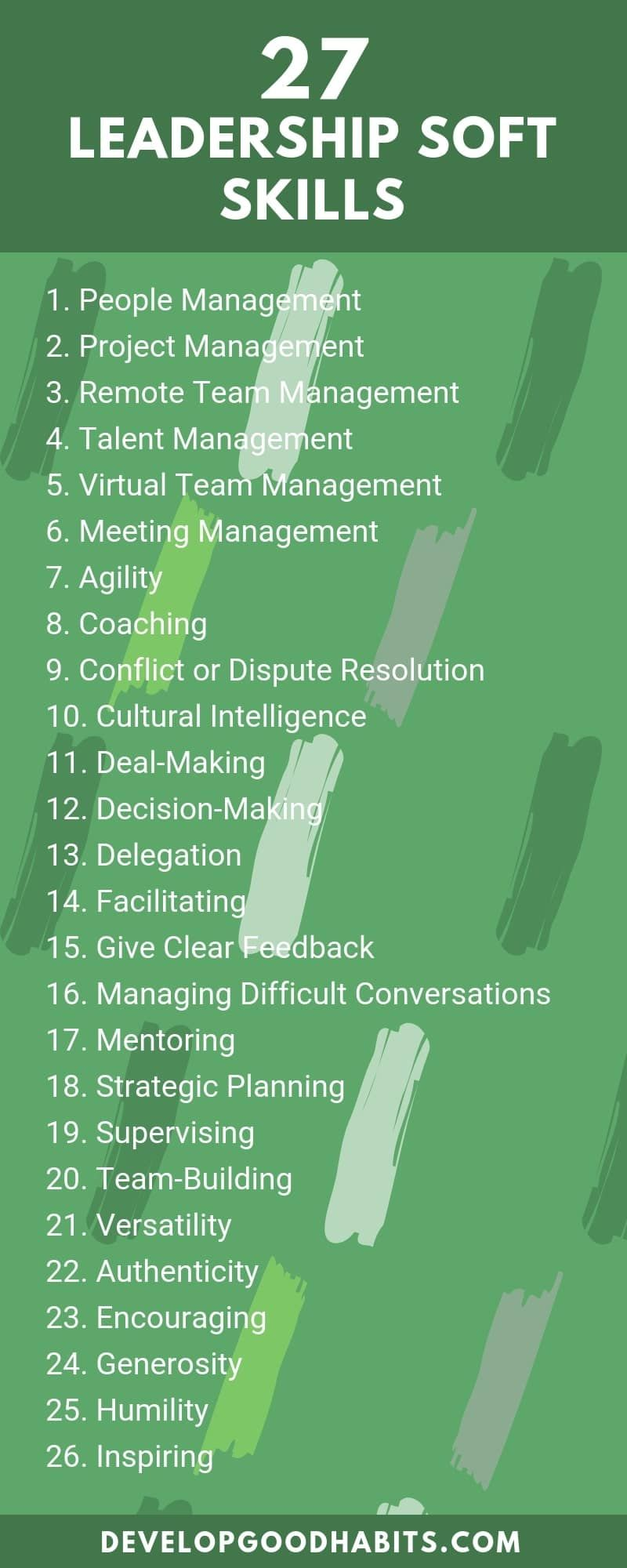 135 Soft Skills List To Stand Out On A Resume Or Job Application List Of Skills Developing Leadership Skills Soft Skills