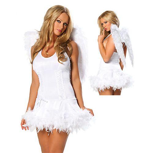 Romantic White Angel Adult Costume,Cheap in Wendybox Adult - angel halloween costume ideas