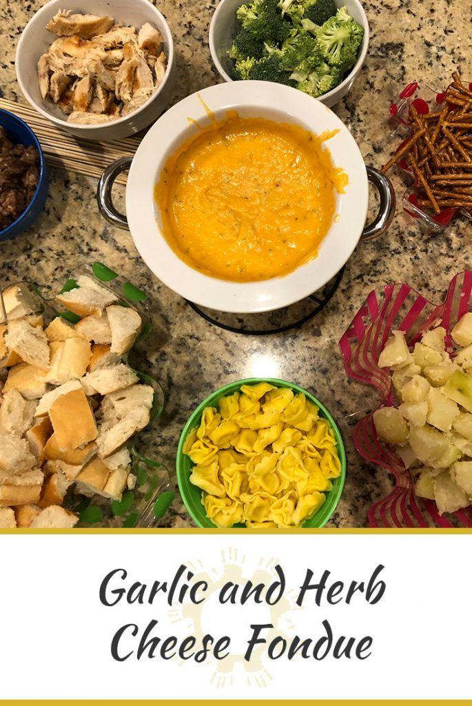 Garlic and Herb Cheese Fondue   Son Shine Kitchen