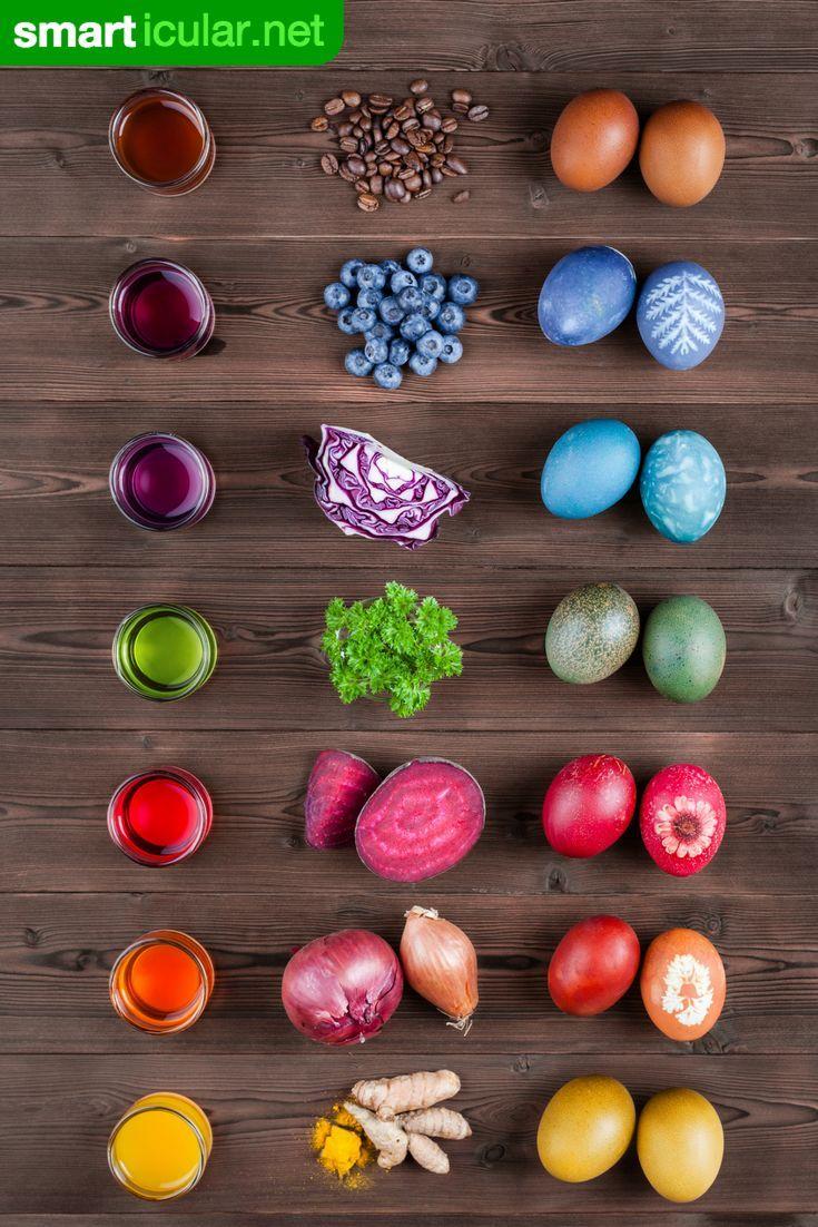 Leuchtende Ostereier - vielfältiger mit den Farben der Natur #cuteideas