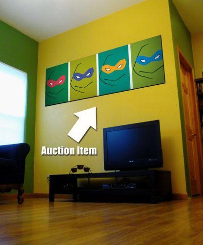 Huge 6ft Tall Teenage Mutant Ninja Turtles Collectible Poster Wall Art Tmnt V Kid Room Decor Kids Room Inspiration Tmnt Bedroom