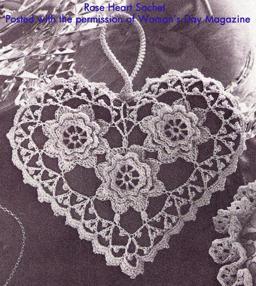 Rose heart sachet at 200 dpi free pattern patterns and crochet crochet bankloansurffo Choice Image