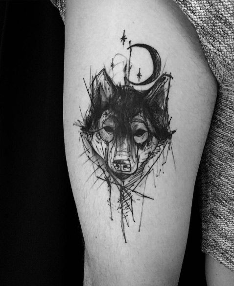60 Sick Wolf Tattoo Designs For Men: 60 Reasons Why You Need A Sketched Tattoo Design