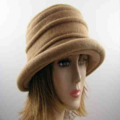 Ladies Scala camel hat cloche bucket ladies wool winter cap. This  attractive hat is 100% boiled wool. It is soft non itchy and lighter in  weight. 5d4a52caf40