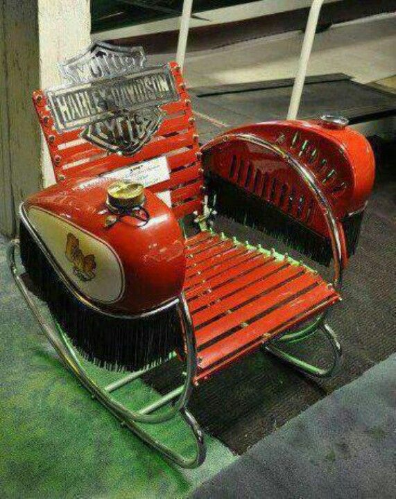 Superieur Harley Lawn/ Rocking Chair Automotive Decor, Automotive Furniture, Harley  Davidson Motorcycles, Cars