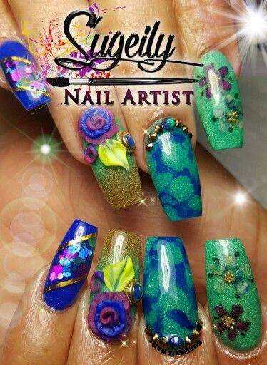 Nail Art Goals This Nail Tech Is A Rockstar Nail Art Ideas Unas