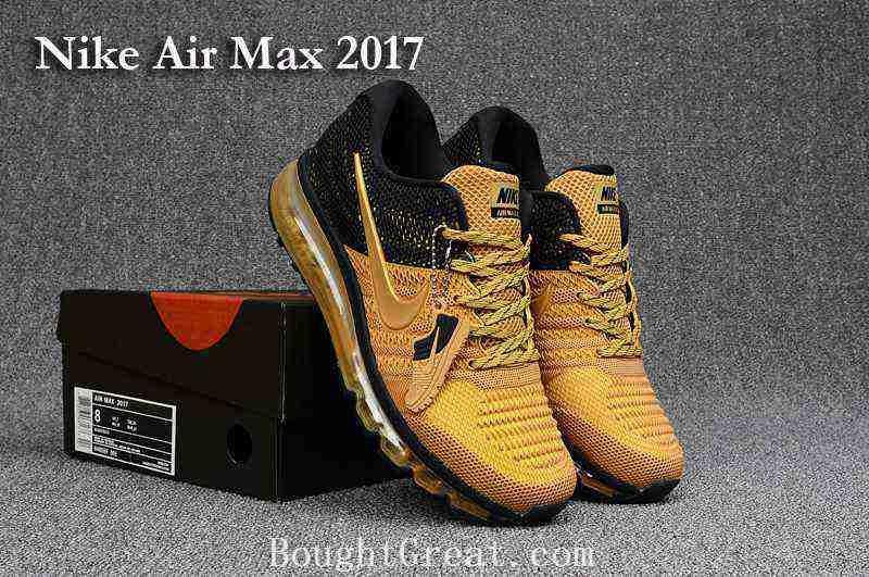 best service e7a07 70a2d Nike Air Max 2017 KPU Men Black Gold Shoes