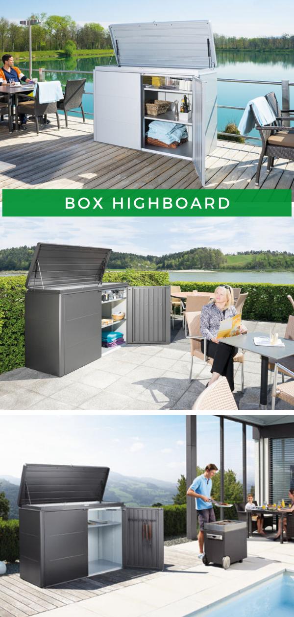 Biohort Aufbewahrungsbox Highboard Aufbewahrungsbox Aufbewahrungsbox Garten Hintergarten