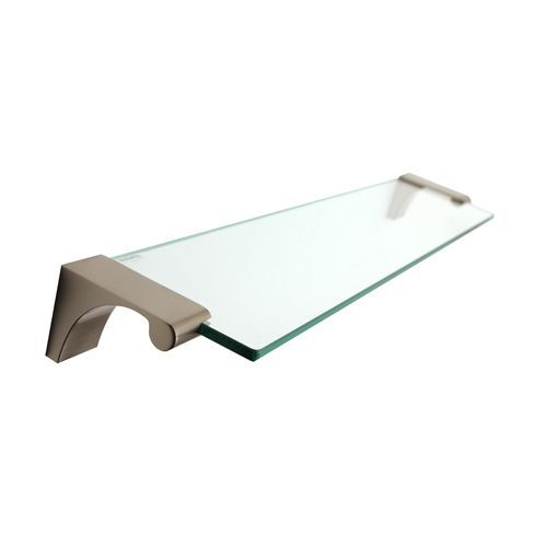 Luna Satin Nickel 18-Inch Glass Shelf With Brackets #GlassShelves ...