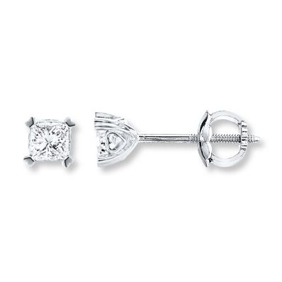 085731f46 Diamond Solitaire Earrings 1 ct tw Princess-cut 14K White Gold. Find this  Pin and more on Products by Kay Jewelers.
