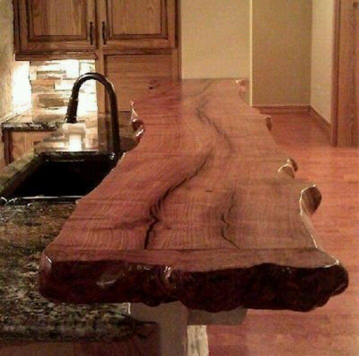 Lovely A Reclaimed Mesquite Wood Bar Top, Stained And Sealed To Perfection. What A  Beautiful Way To Invite Mother Nature Into Your Kitchen.