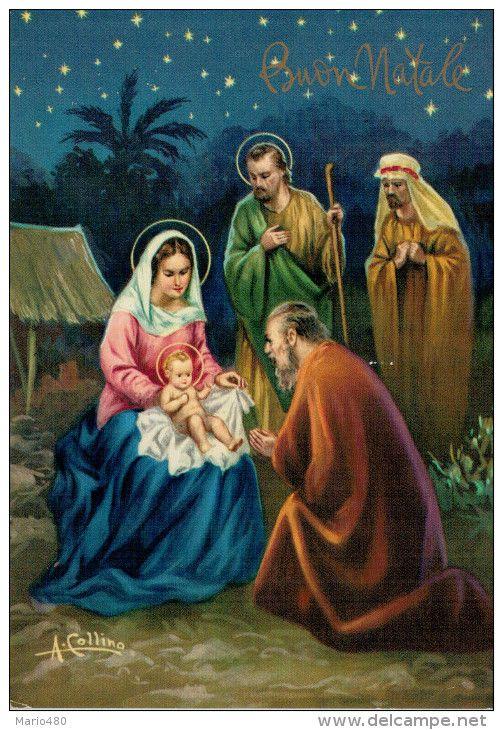 Immagini Natale Sacre.Buon Natale La Sacra Famiglia Viaggiata Noel Favorite