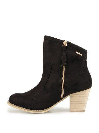 67718a91320 Refresh - Černé kotníčkové boty na podpatku - 1