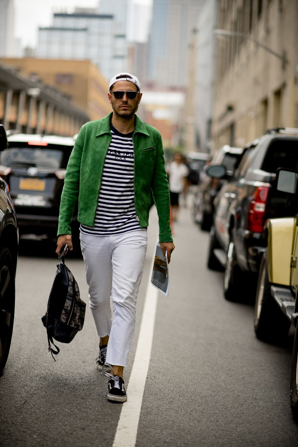 01d69147ab53 Robert Spangle snaps all the best outfits and most superb streetwear from  outside the Spring Summer 2018 men s shows at NYFW.