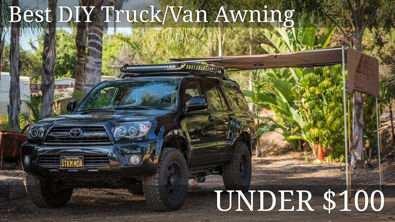 Diy truck awning under 100 youtube diy awning