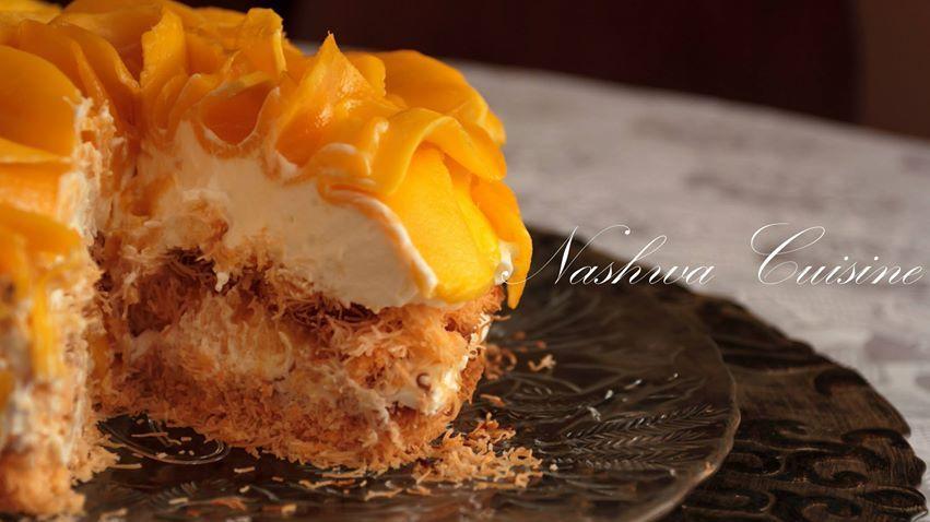 Kunafa With Cream Mango Desserts Party Desserts Food