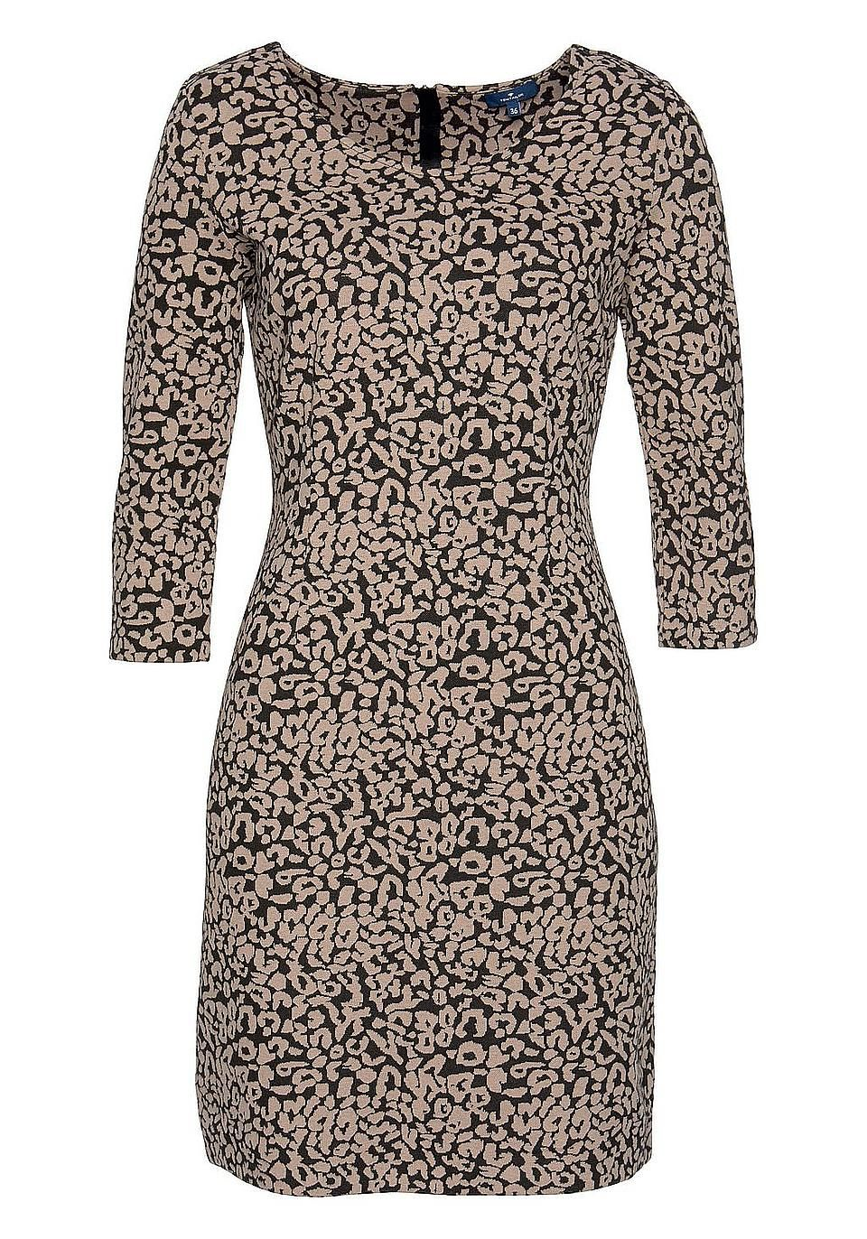nice shoes for whole family classic fit Tom Tailor Jerseykleid | Animal Print | BAUR | Kleider ...