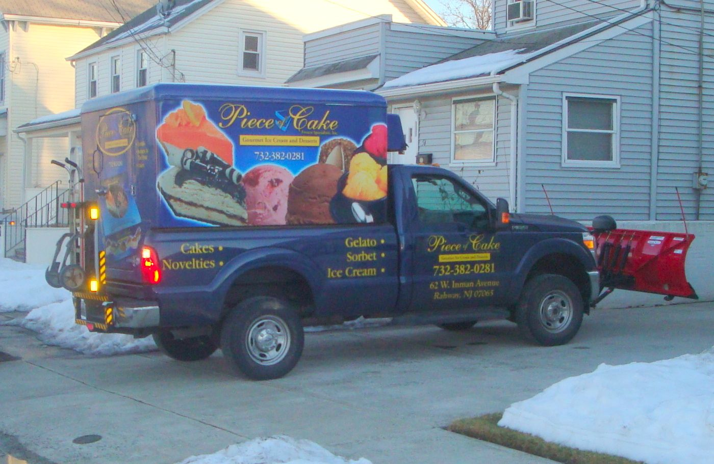 piece of cake frozen specialties 39 ford f350 refrigerated pickup truck with johnson refrigerated. Black Bedroom Furniture Sets. Home Design Ideas