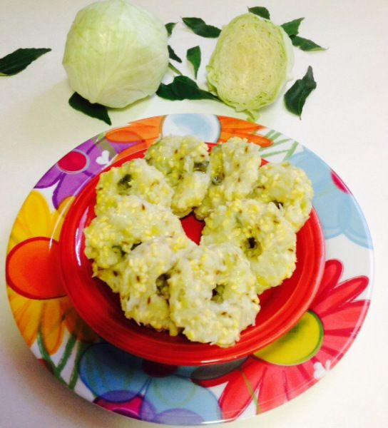 Main Ingredient Recipes: INSTANT CABBAGE IDLI WITH 3 MAIN INGREDIENTS