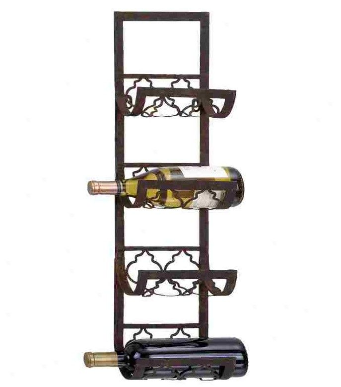 Woodland Imports 4 Bottle Wall Mounted Wine Rack For The Towel