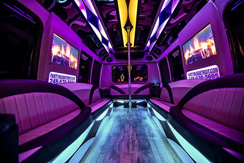 Book A Detroit Party Bus Rental Today And Don T Worry About Drinking And Driving We Cater To Any Event Whether It Be A Wedding Party Bus Rental Party Bus Bus
