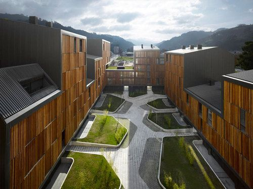 Mieres Social Housing #ZigzagArchitect #Spain #wood