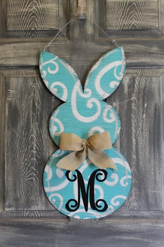 Rabbit Door Hanger Qutra Sign