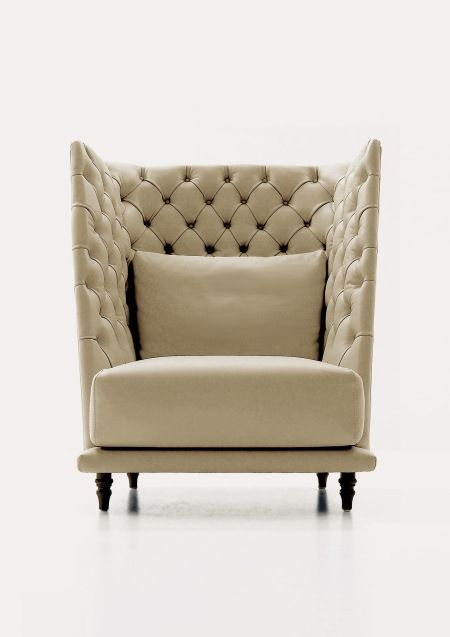 High Back Tufted Sofa High Back Chairs Furniture Contemporary Lounge Chair