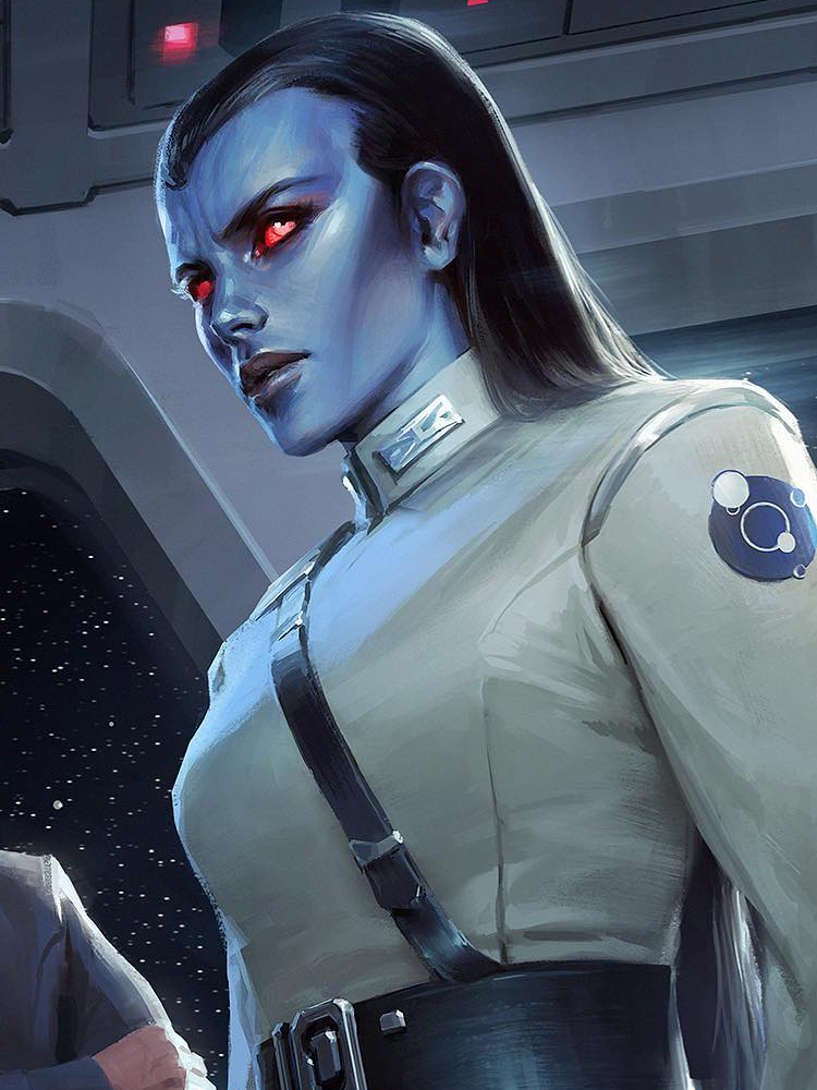 Ar'alani was a Chiss female admiral who served in the Expansionary Defense Fleet of the Chiss Ascendancy durin… in 2020 | Grand admiral thrawn, Star wars species, Navy hair